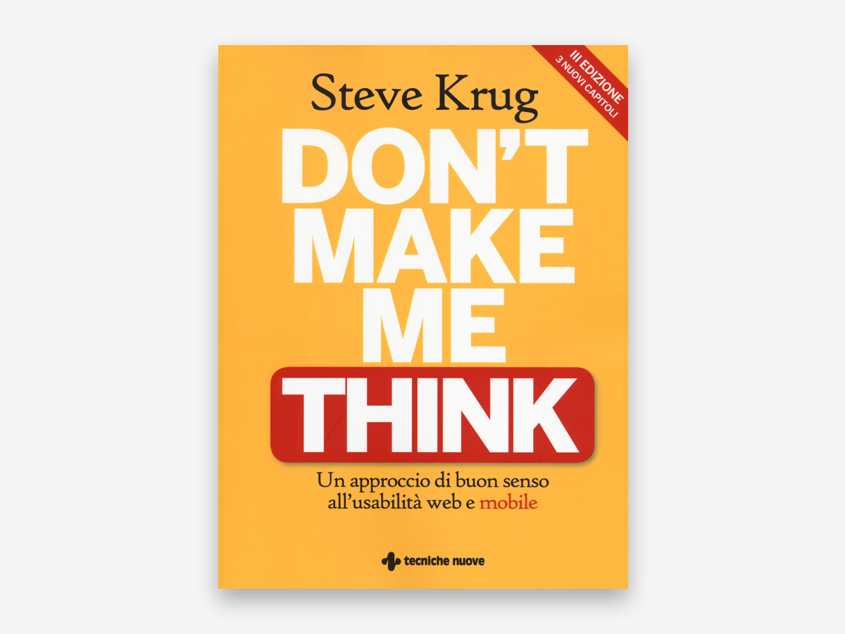 libri di ux design 2020 - don't make me think